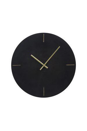 Klok Ø43 cm MORENO marmer zwart
