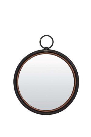 Spiegel Ø40 cm IDEAL tin koper