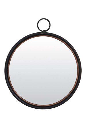 Spiegel Ø50 cm IDEAL tin koper
