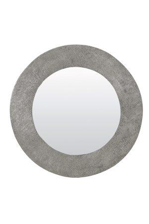 Spiegel Ø76 cm RAWENE relief antiek lood