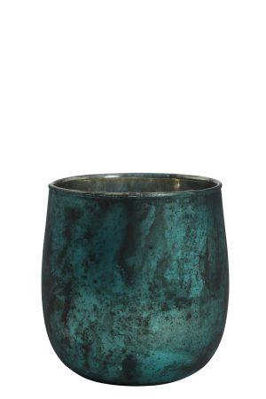 Theelicht Ø10x10 cm SERGIO mat groen-zwart