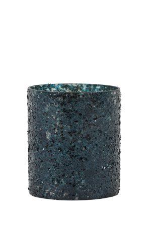 Theelicht Ø8x9 cm ENZO zwart groen