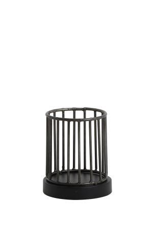 Theelicht Ø11x13 cm JORIM zink antiek-mat zwart