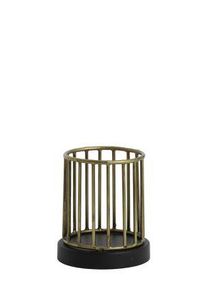 Theelicht Ø11x13 cm JORIM antiek brons-mat zwart