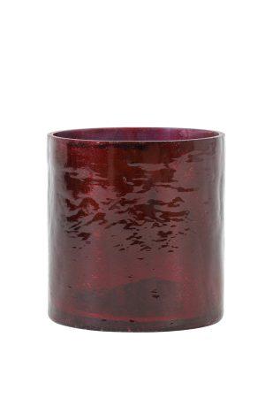 Theelicht Ø10x11 cm BORBA rood