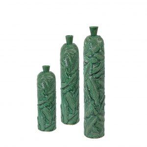Set 3 Decoratieve Vazen Lavero Keramiek