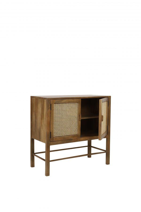 Quality2life.nl 6742584 Kast 88x40x84cm NIPAS hout-bruin