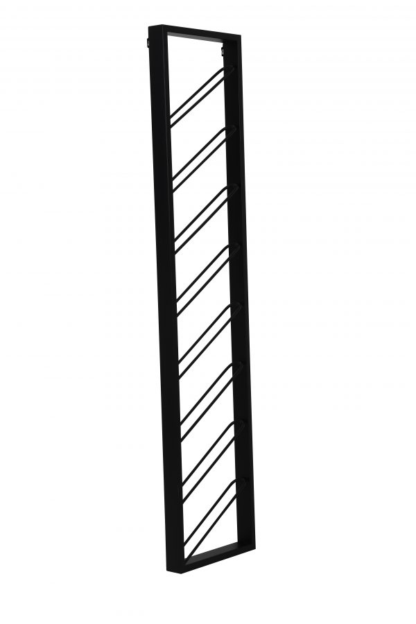 Quality2life.nl 6748012 Wijnrek zwart MALBEO 8flessen 36x6x160cm
