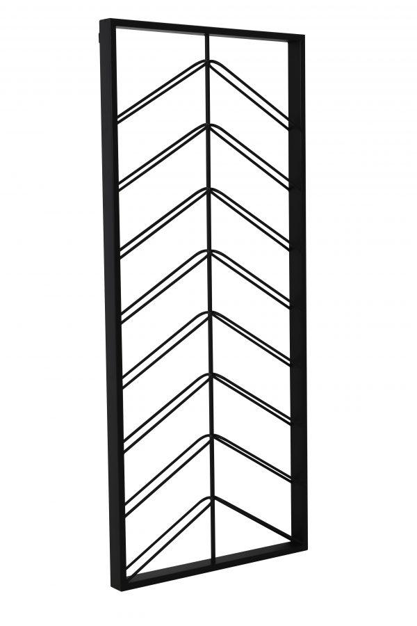 Quality2life.nl 6748112 Wijnrek zwart MALBEO 16flessen 70x6x160cm