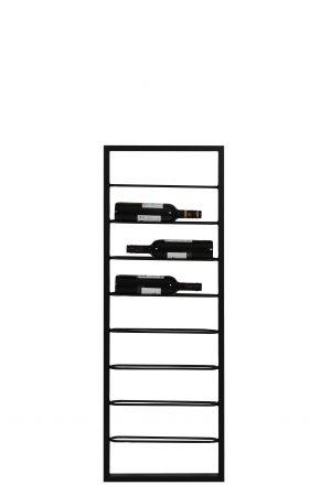 Quality2life.nl 6748212 Wijnrek zwart MACABEN 8flessen 42x6x120cm