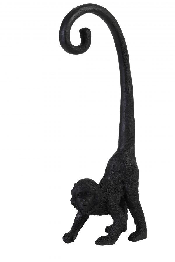 Quality2life.nl Ornament zwart MONKEY 6979612 14,5x16,5x45,5 cm