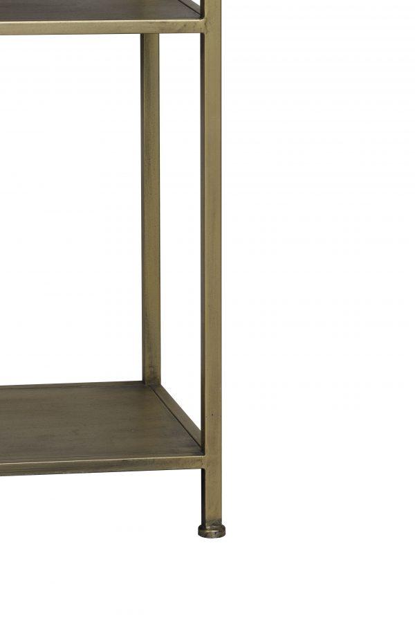 Quality2life.nl 6742185 Kast open 101x36x200 cm YVANA antiek goud
