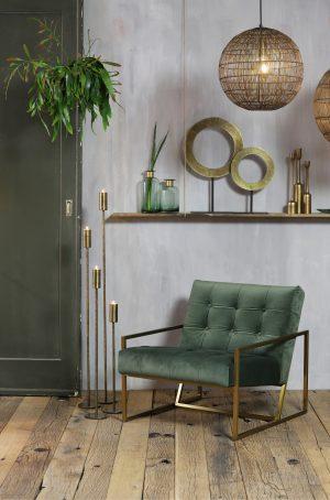 Quality2life.nl 6960518 Ornament op voet Ø35×56 cm WAIWO ruw antiek brons-mat zwart