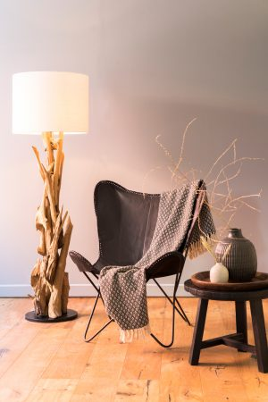 Quality2life.nl Floor lamp Ø35×182 cm VIDIN wood 8204284