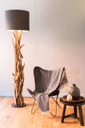 Quality2life.nl Floor lamp Ø35×182 cm VIDIN wood 8204384