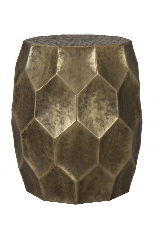 Quality2life.nl 6727585 - Bijzettafel Ø37x42,5 cm KALAN antiek goud