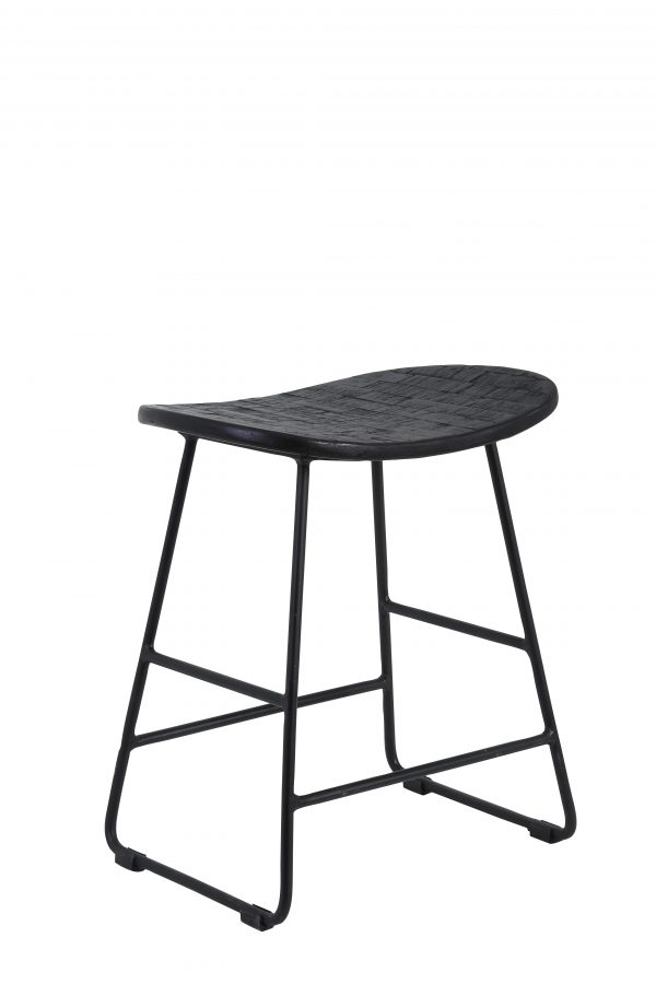 Quality2life.nl Kruk TRIPAS mat-zwart 40x29x47cm 6736012