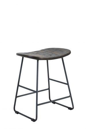 Quality2life.nl Kruk TRIPAS hout oud-grijs 40x29x47cm 6736027