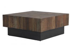 Quality2life.nl 6738283 - Salontafel 70x70x30 cm MACUMA hout+zwart