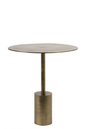 Quality2life.nl 6748450 - Bijzettafel Ø40x45 cm MOLO ruw antiek brons