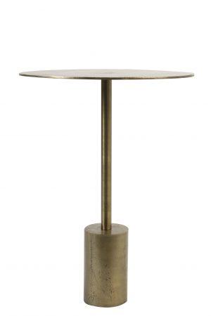 Quality2life.nl 6748550 - Bijzettafel Ø40x55 cm MOLO ruw antiek brons