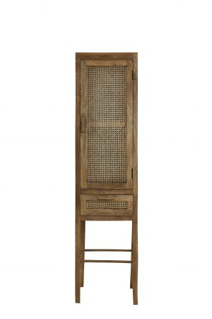 Quality2life.nl 6755184 - Kast met lade 45x40x180 cm NIPAS hout bruin
