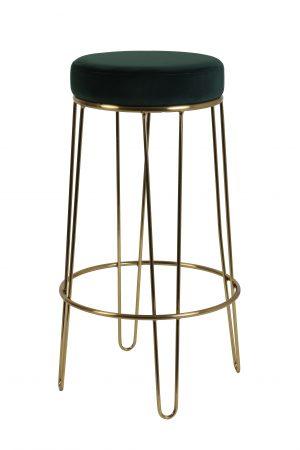 Quality2life.nl Kruk ALICE velvet donkergroen-goud Ø41x73,5cm 6755481
