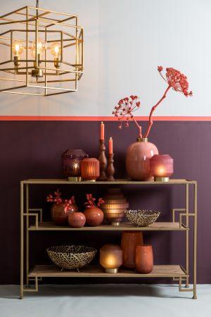 Quality2life.nl 6755612 - Side table 120x35x80 cm SUTERA goud-hout