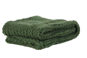 Quality2life.nl Plaid 127×152 cm KNITTED olijf groen 6828378