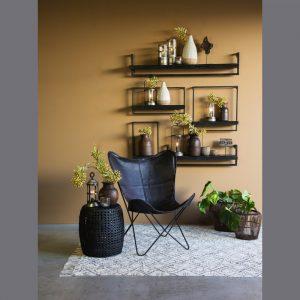Quality2life.nl Wandplank MADDISON hout zwart