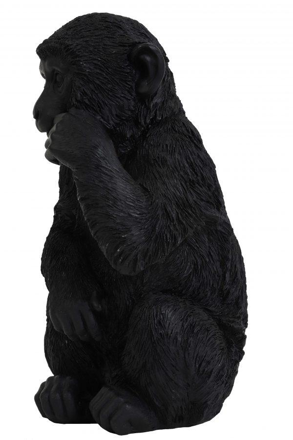 Ornament zwart MONKEY 6979212 16,5x15x30cm Quality2life.nl