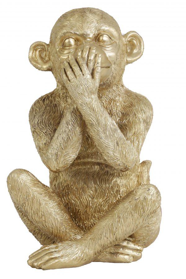 Ornament MONKEY goud 6979485 16,5x16,5x26cm Quality2life.nl
