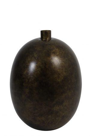 5960818 Vaas deco Ø30x42 cm BINCO gebrand antiek brons Quality2life.nl