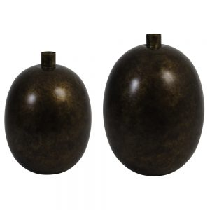 Vaas-deco brons BINCO 5960818 5960718 Quality2life.nl