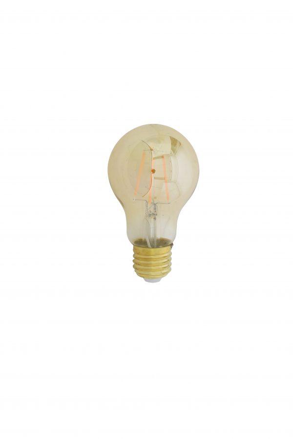 LED-kogel Amber 6x6x11cm LIGHT-4W-E27-dimbaar 9900414 Quality2life.nl