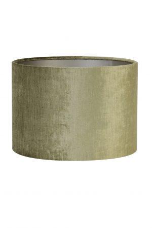 Kap cilinder GEMSTONE olive 50-50-38cm 2250767 Quality2life.nl
