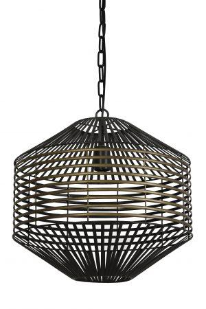 Hanglamp antiek-brons+matzwart SELENA Ø47x48,5cm 2942518 Quality2life.nl