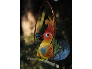 Tuinornament gekleurde vogel MD16013 en hanger MD16016 Quality2life.nl