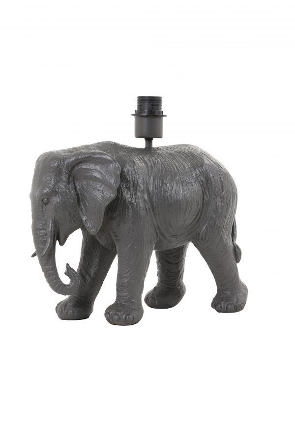 Lampvoet 37x17x35cm ELEPHANT zwart 1728412 Quality2life.nl
