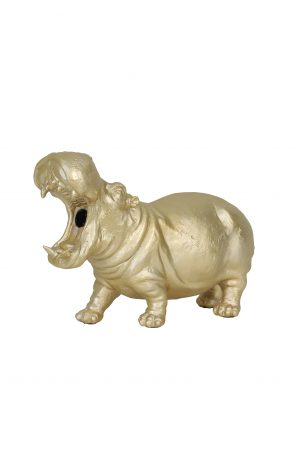 Tafellamp 36x14x24cm HIPPO goud 1854485 Quality2life.nl