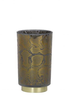 Tafellamp LED Ø12x18cm SNAKE glas grijs-zwart 1856327 Quality2life.nl
