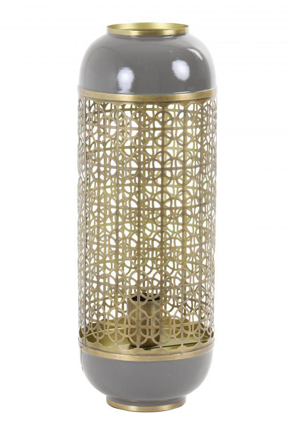 Tafellamp Ø17x44cm ROHIT donkergrijs 1857727 Quality2life.nl