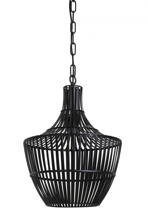 Hanglamp Ø47x62,5 cm STELLA mat zwart 2942712 Quality2life.nl