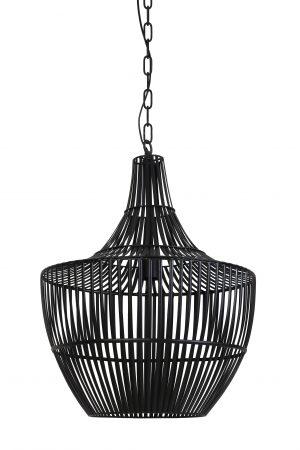Hanglamp Ø38x46 cm STELLA mat zwart 2942812 Quality2life.nl