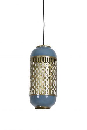 Hanglamp Ø17x37cm ROHAT blauw 2943680 Quality2life.nl