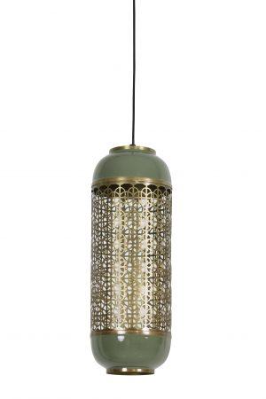 Hanglamp Ø17x44cm ROHIT olijfgroen 2943769 Quality2life.nl