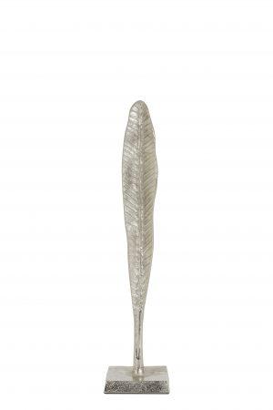 Ornament 10x10x45,5cm LEAF blad nikkel 6922119 Quality2life.nl