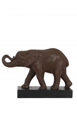 Ornament 52x21,5x37cm ELEPHANT bruin 6939483 Quality2life.nl