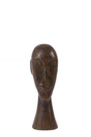 Ornament 12x11x38cm HEAD hout bruin 6982964 Quality2life.nl