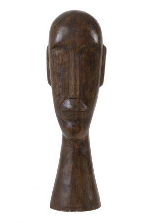 Ornament 16,5x13x52cm HEAD hout bruin 6983064 Quality2life.nl